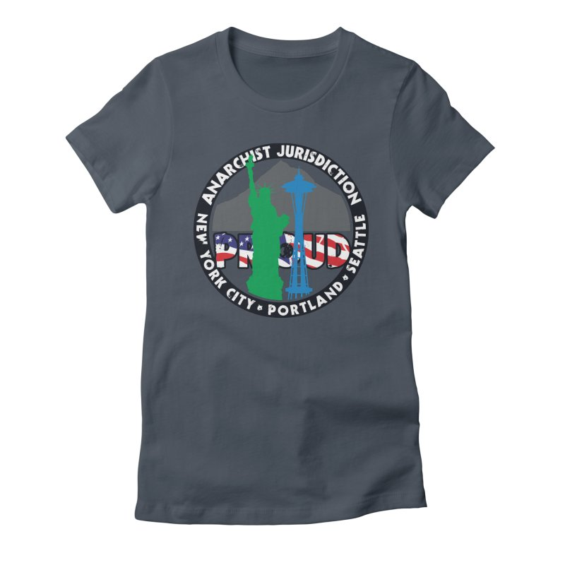 Anarchist Jurisdiction Proud :: Threadless 20th Anniversary submission Women's T-Shirt by Peregrinus Creative