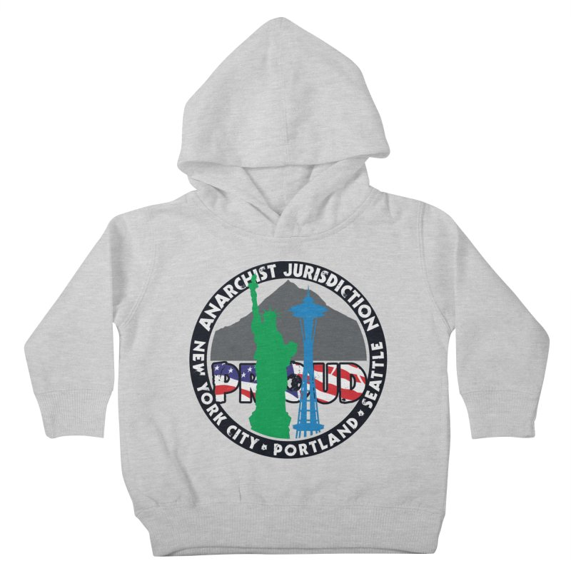 Anarchist Jurisdiction Proud :: Threadless 20th Anniversary submission Kids Toddler Pullover Hoody by Peregrinus Creative
