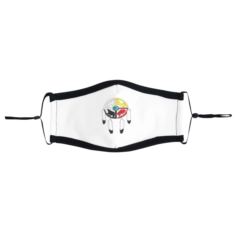 Medicine Wheel Accessories Face Mask by Peregrinus Creative