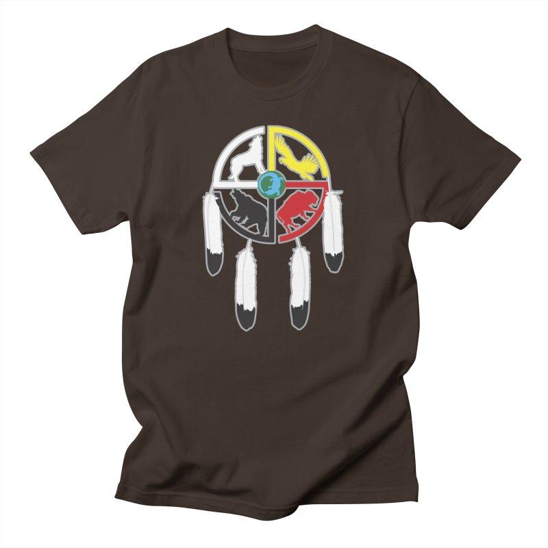 Medicine Wheel Men's T-Shirt by Peregrinus Creative