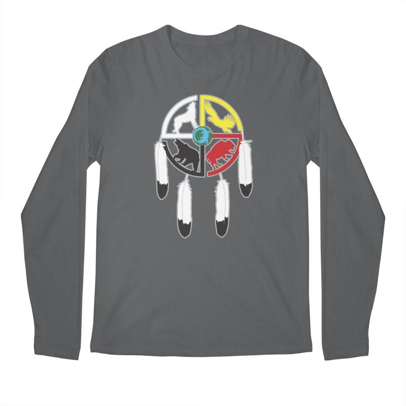 Medicine Wheel Men's Longsleeve T-Shirt by Peregrinus Creative