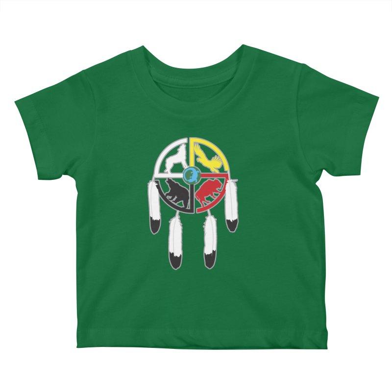 Medicine Wheel Kids Baby T-Shirt by Peregrinus Creative