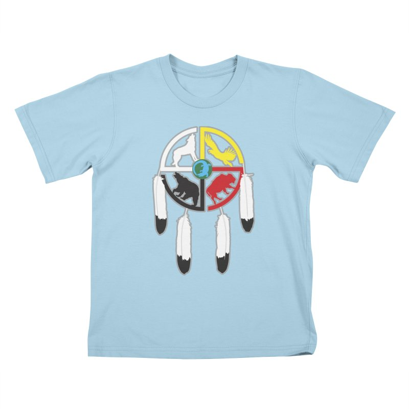 Medicine Wheel Kids T-Shirt by Peregrinus Creative