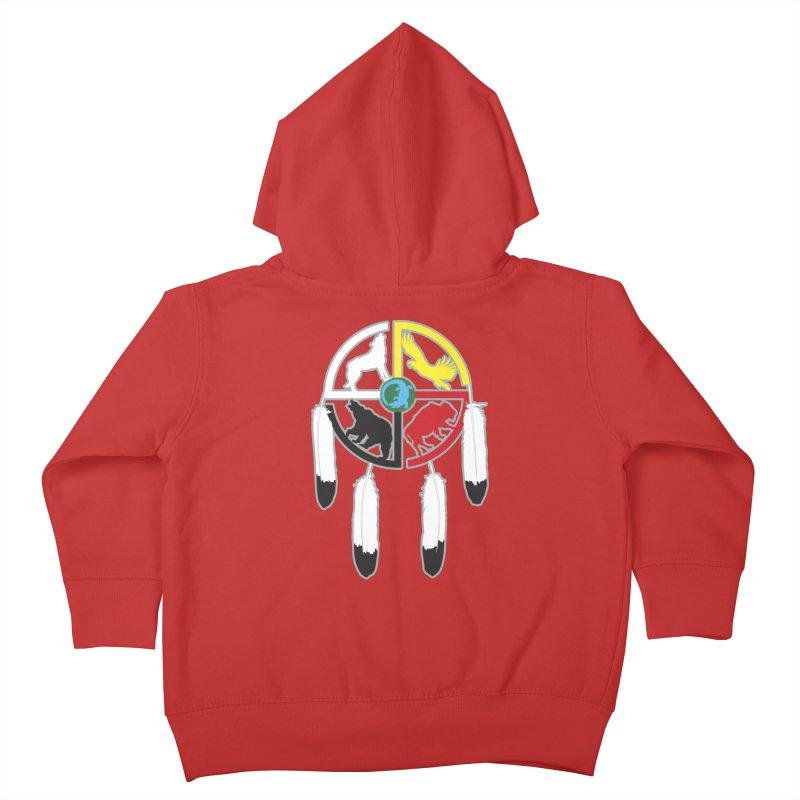 Medicine Wheel Kids Toddler Zip-Up Hoody by Peregrinus Creative