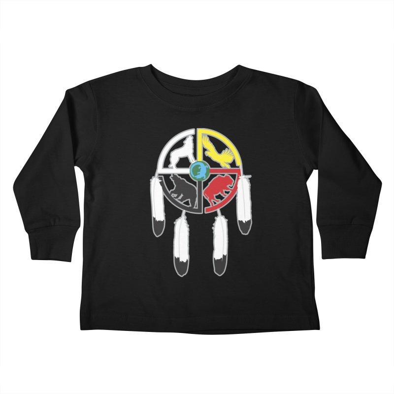 Medicine Wheel Kids Toddler Longsleeve T-Shirt by Peregrinus Creative