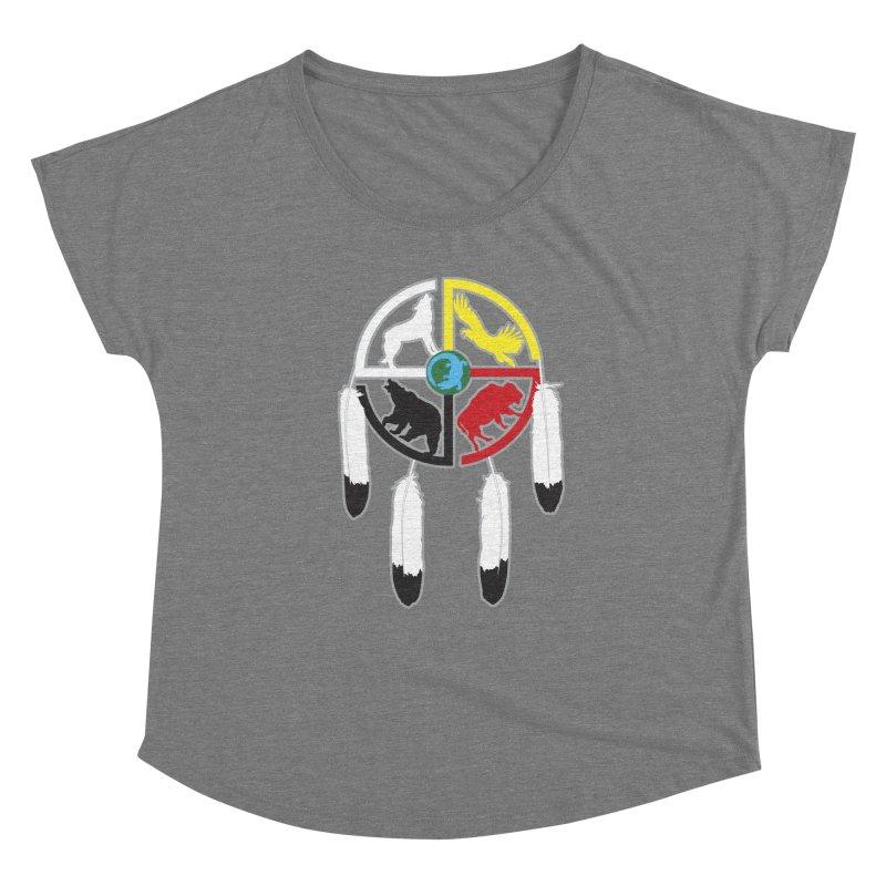 Medicine Wheel Women's Scoop Neck by Peregrinus Creative