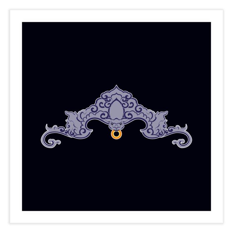 Bat symbolism Home Fine Art Print by Peregrinus Creative