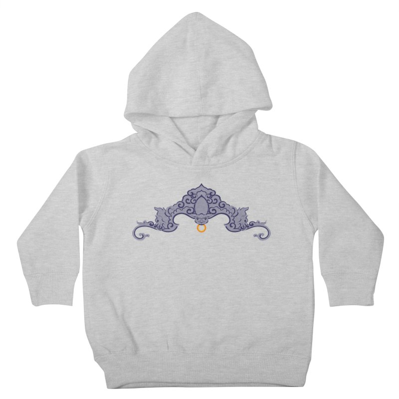 Bat symbolism Kids Toddler Pullover Hoody by Peregrinus Creative