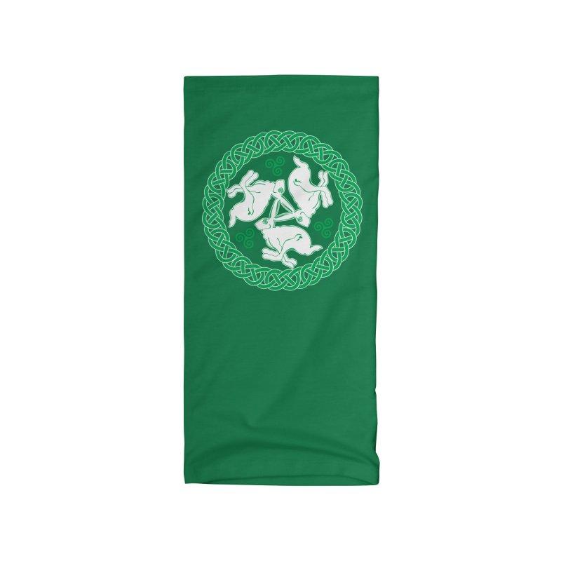 Celtic Triskele Hares Accessories Neck Gaiter by Peregrinus Creative