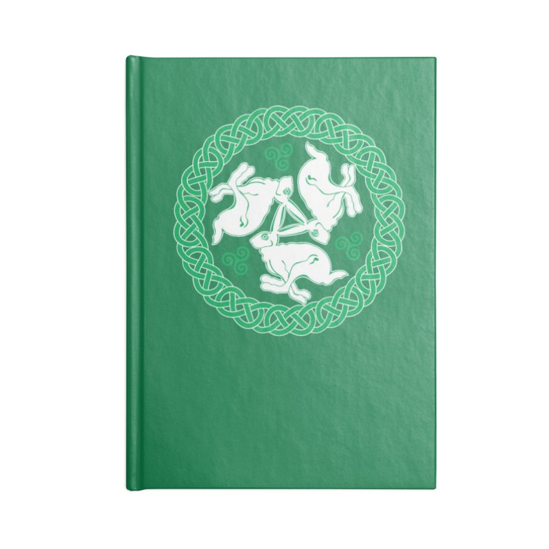 Celtic Triskele Hares Accessories Notebook by Peregrinus Creative