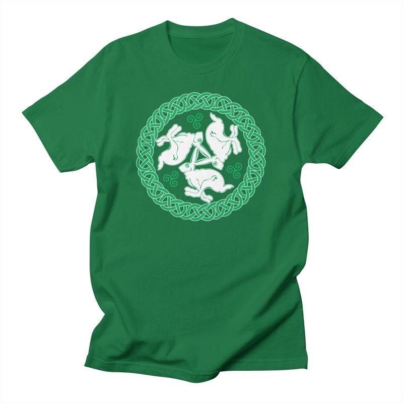 Celtic Triskele Hares Men's T-Shirt by Peregrinus Creative