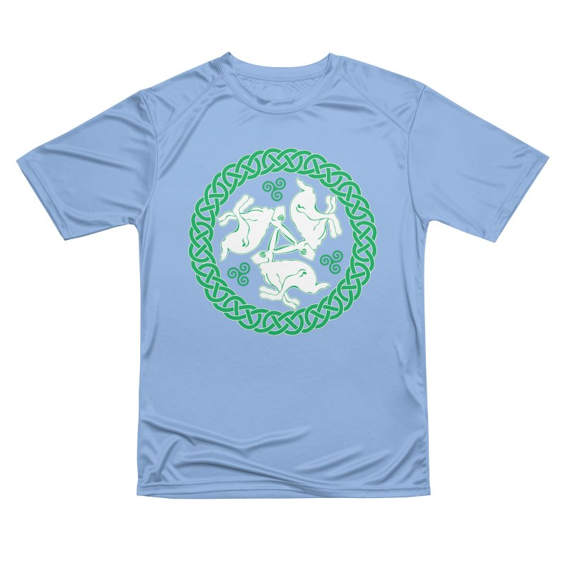 Celtic Triskele Hares Women's T-Shirt by Peregrinus Creative