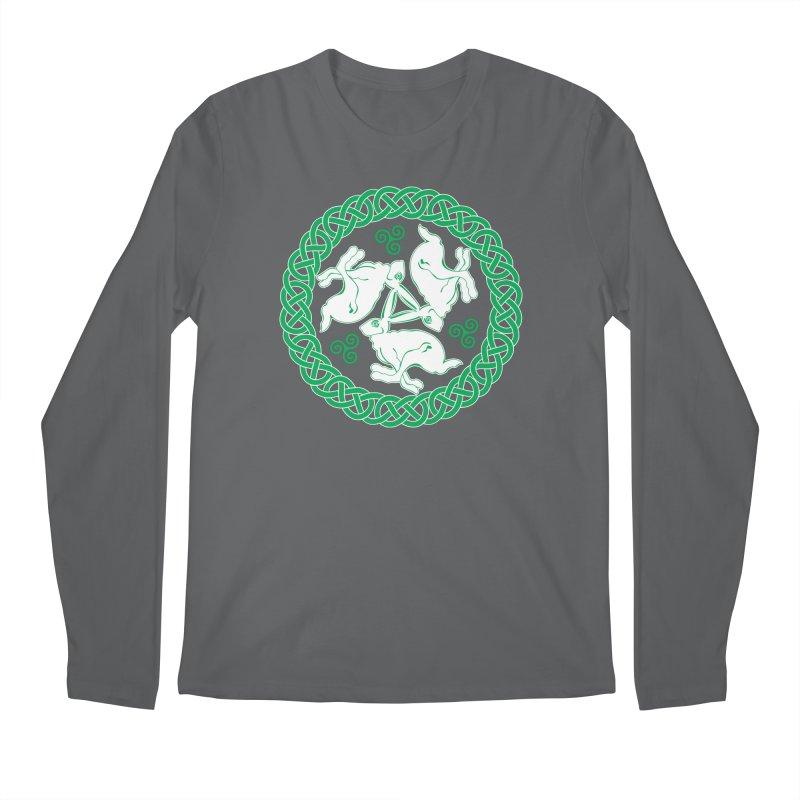 Celtic Triskele Hares Men's Longsleeve T-Shirt by Peregrinus Creative