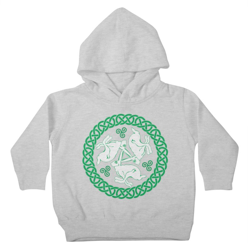 Celtic Triskele Hares Kids Toddler Pullover Hoody by Peregrinus Creative