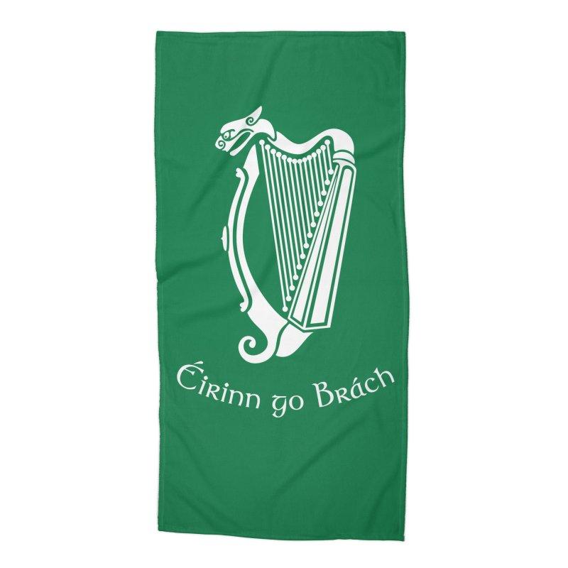 Éirinn go Brách (Ireland to the End of Time) Accessories Beach Towel by Peregrinus Creative