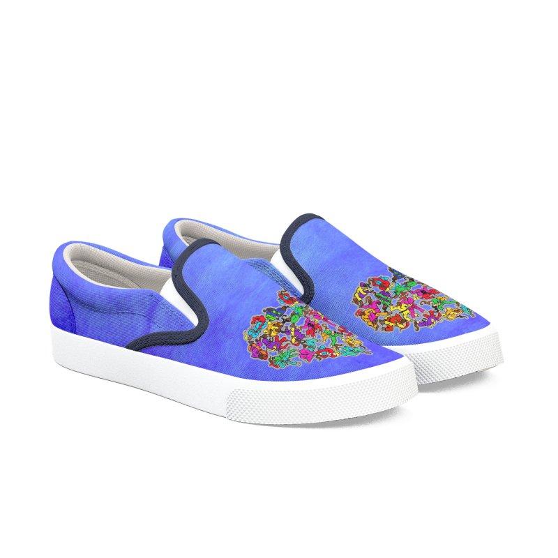 LOVE Brazilian Jiu-Jitsu Women's Slip-On Shoes by Peregrinus Creative