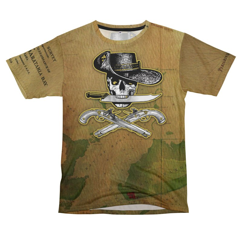 Ghost of Barataria Men's T-Shirt Cut & Sew by Peregrinus Creative