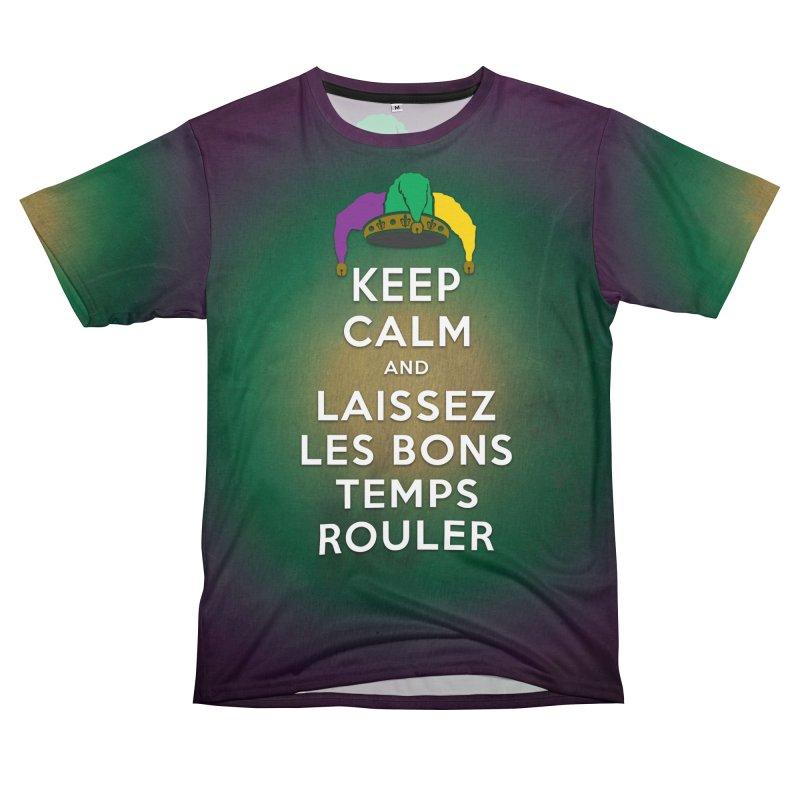 KEEP CALM and LAISSEZ LES BONS TEMPS ROULER Men's T-Shirt Cut & Sew by Peregrinus Creative