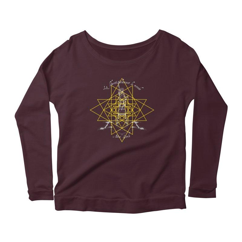 La liberté éclairant le monde in Women's Scoop Neck Longsleeve T-Shirt Dark Purple by Peregrinus Creative