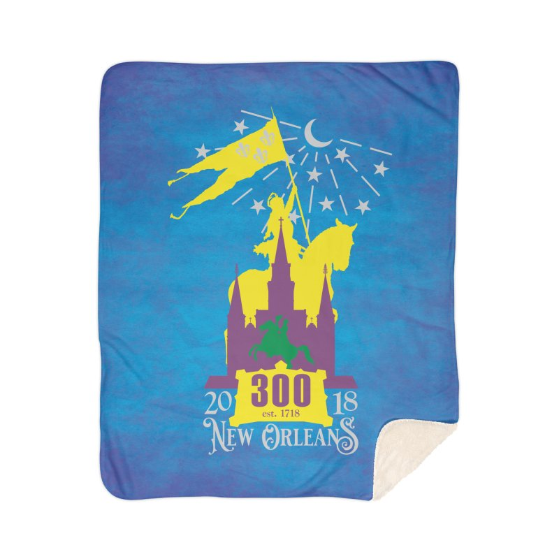 New Orleans Tricentennial 300TH Anniversary - ART & ACCESSORIES Home Sherpa Blanket Blanket by Peregrinus Creative