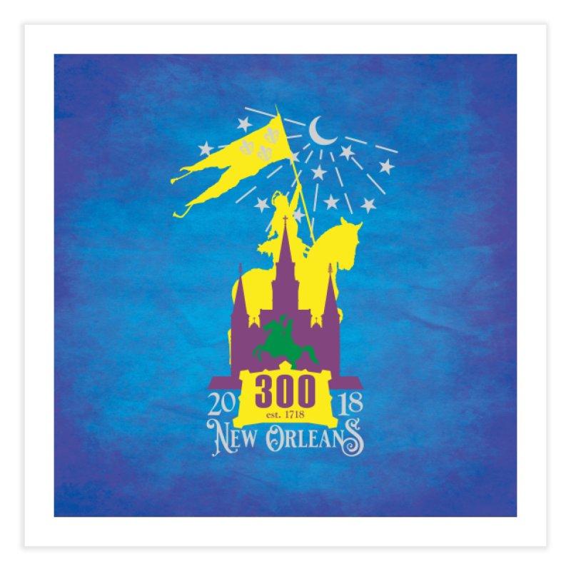 New Orleans Tricentennial 300TH Anniversary - ART & ACCESSORIES Home Fine Art Print by Peregrinus Creative