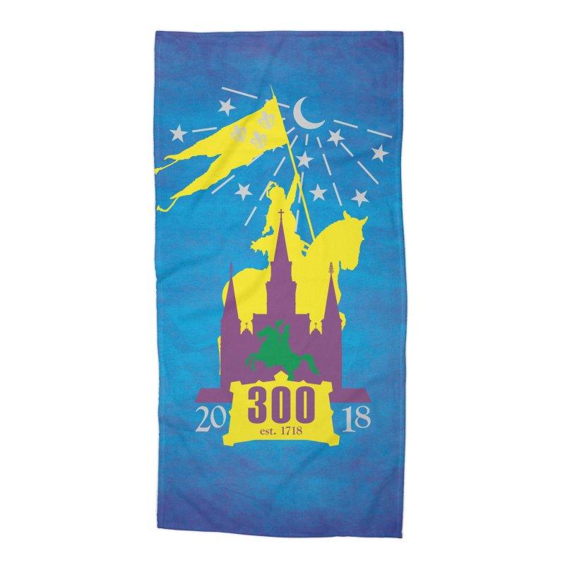 New Orleans Tricentennial 300TH Anniversary - ART & ACCESSORIES Accessories Beach Towel by Peregrinus Creative