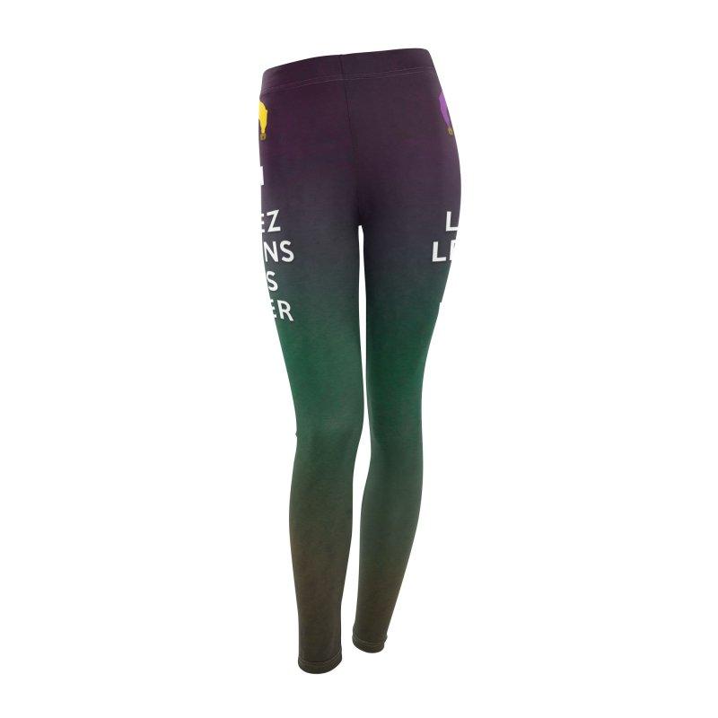KEEP CALM and LAISSEZ LES BONS TEMPS ROULER reversed Women's Leggings Bottoms by Peregrinus Creative