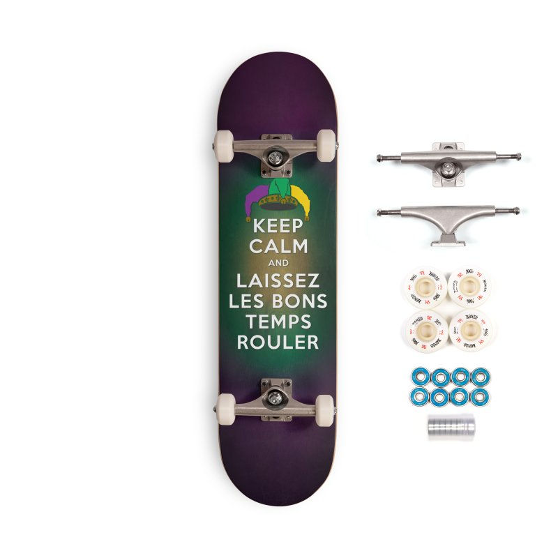 KEEP CALM and LAISSEZ LES BONS TEMPS ROULER reversed Accessories Complete - Premium Skateboard by Peregrinus Creative