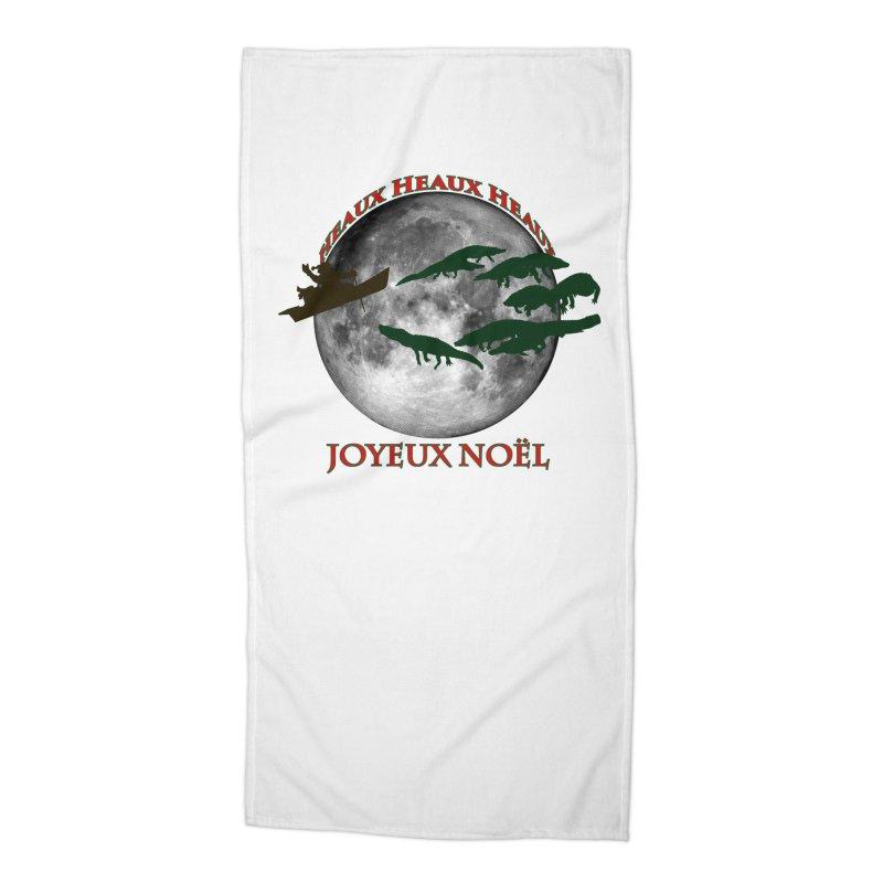Cajun Christmas Accessories Beach Towel by Peregrinus Creative