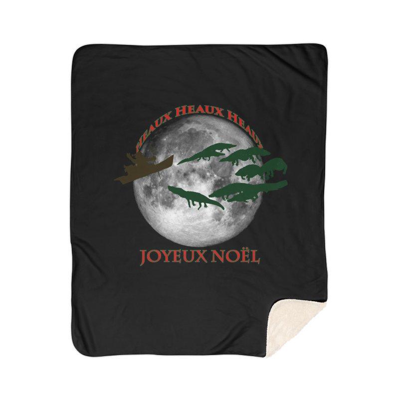 Cajun Christmas Home Sherpa Blanket Blanket by Peregrinus Creative