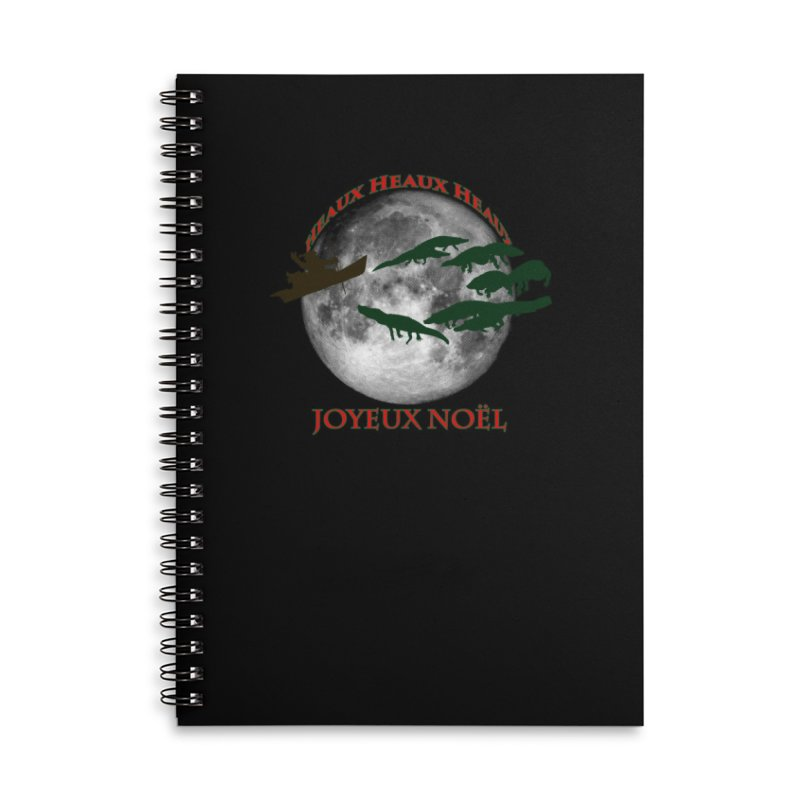 Cajun Christmas Accessories Lined Spiral Notebook by Peregrinus Creative