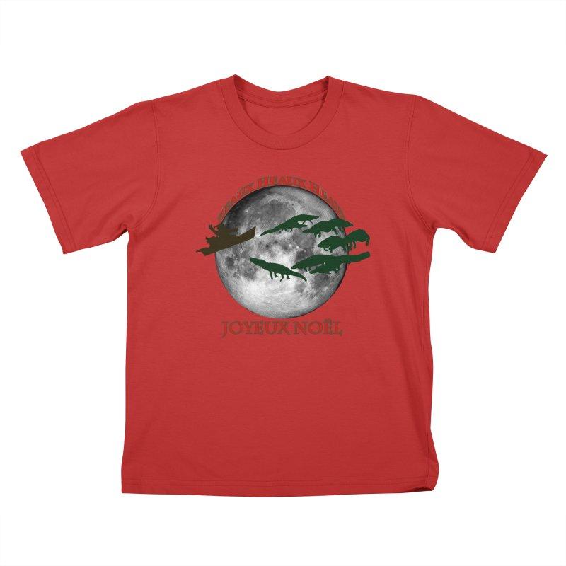 Cajun Christmas Kids T-Shirt by Peregrinus Creative