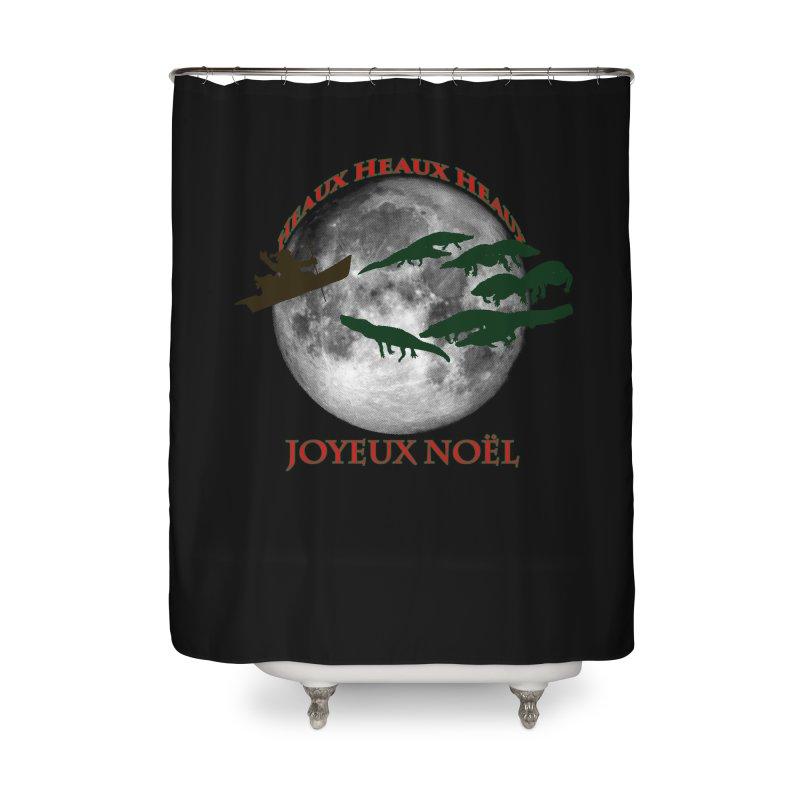 Cajun Christmas Home Shower Curtain by Peregrinus Creative