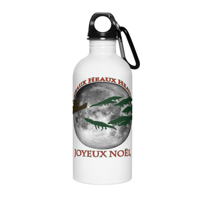 Cajun Christmas Accessories Water Bottle by Peregrinus Creative
