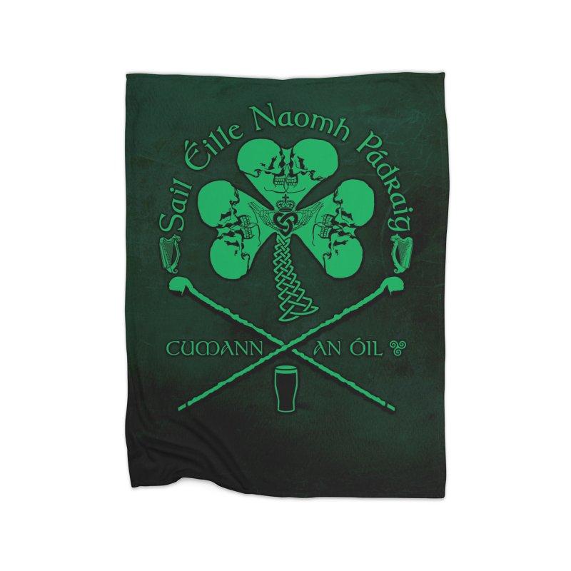 Saint Patrick's Shillelagh Drinking Society Home Fleece Blanket Blanket by Peregrinus Creative