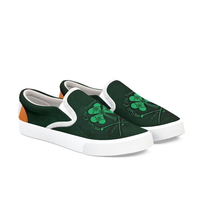 Saint Patrick's Shillelagh Drinking Society Women's Slip-On Shoes by Peregrinus Creative