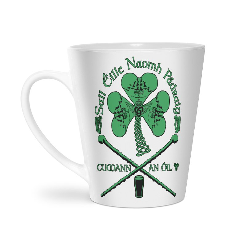 Saint Patrick's Shillelagh Drinking Society Accessories Latte Mug by Peregrinus Creative