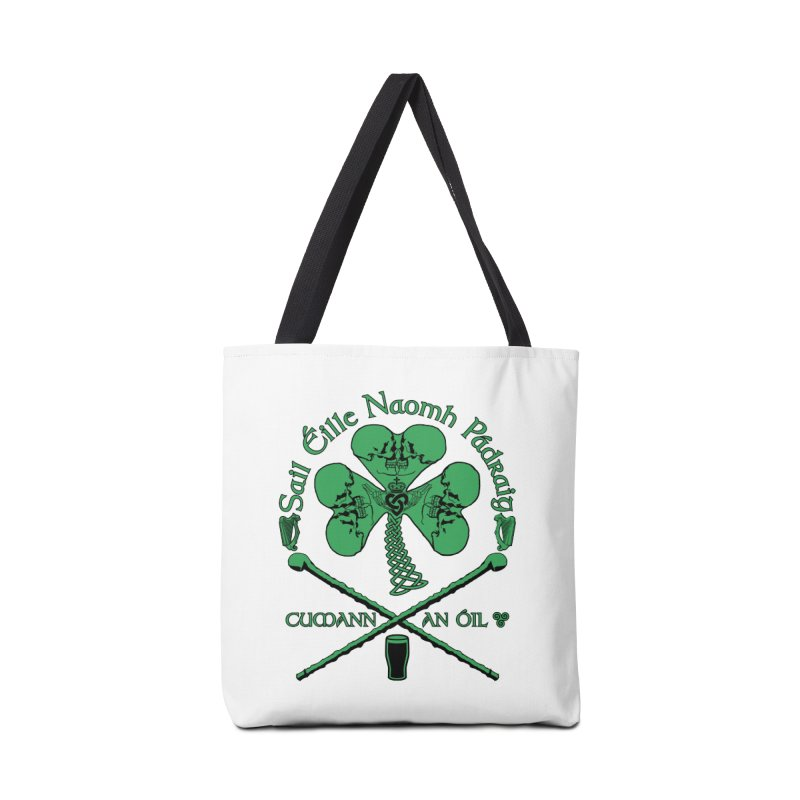 Saint Patrick's Shillelagh Drinking Society Accessories Tote Bag Bag by Peregrinus Creative