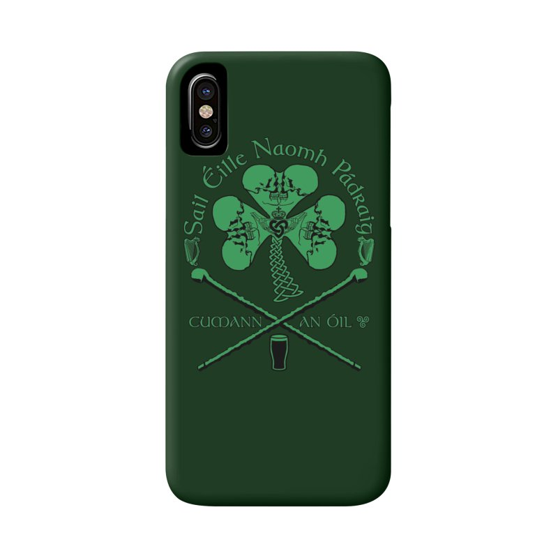 Saint Patrick's Shillelagh Drinking Society Accessories Phone Case by Peregrinus Creative
