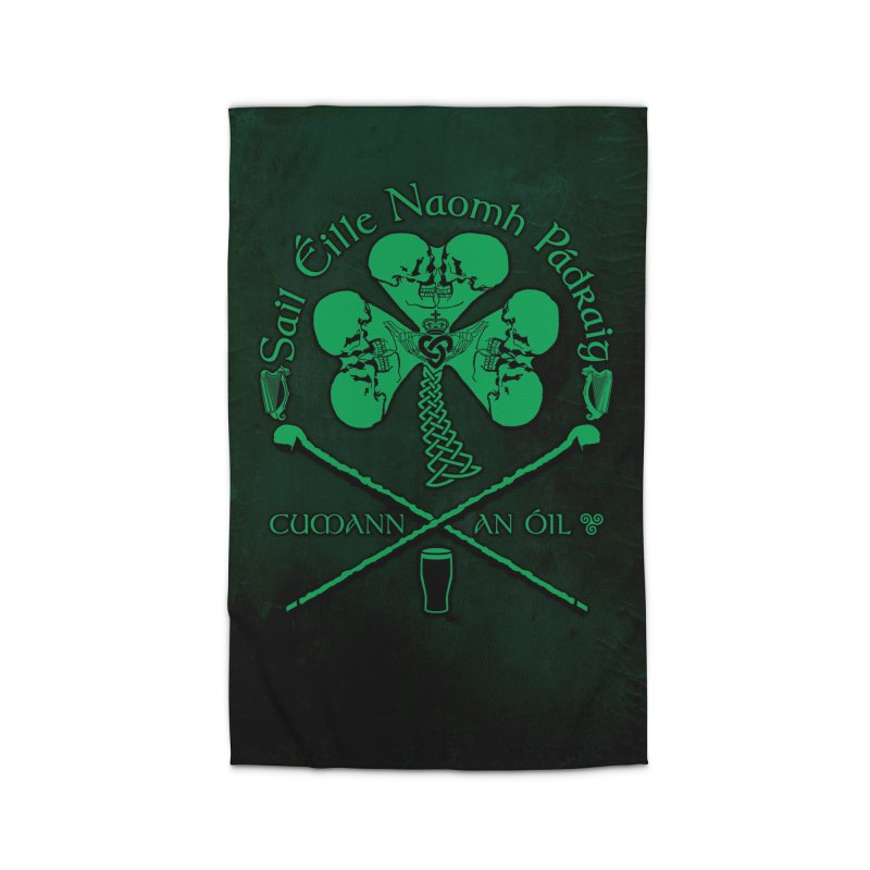 Saint Patrick's Shillelagh Drinking Society Home Rug by Peregrinus Creative