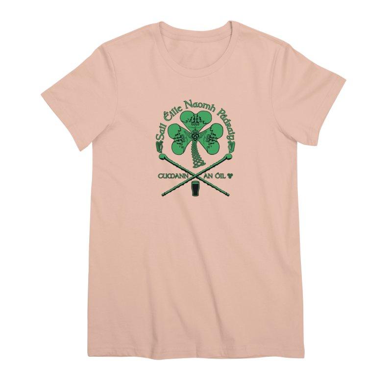 Saint Patrick's Shillelagh Drinking Society Women's Premium T-Shirt by Peregrinus Creative
