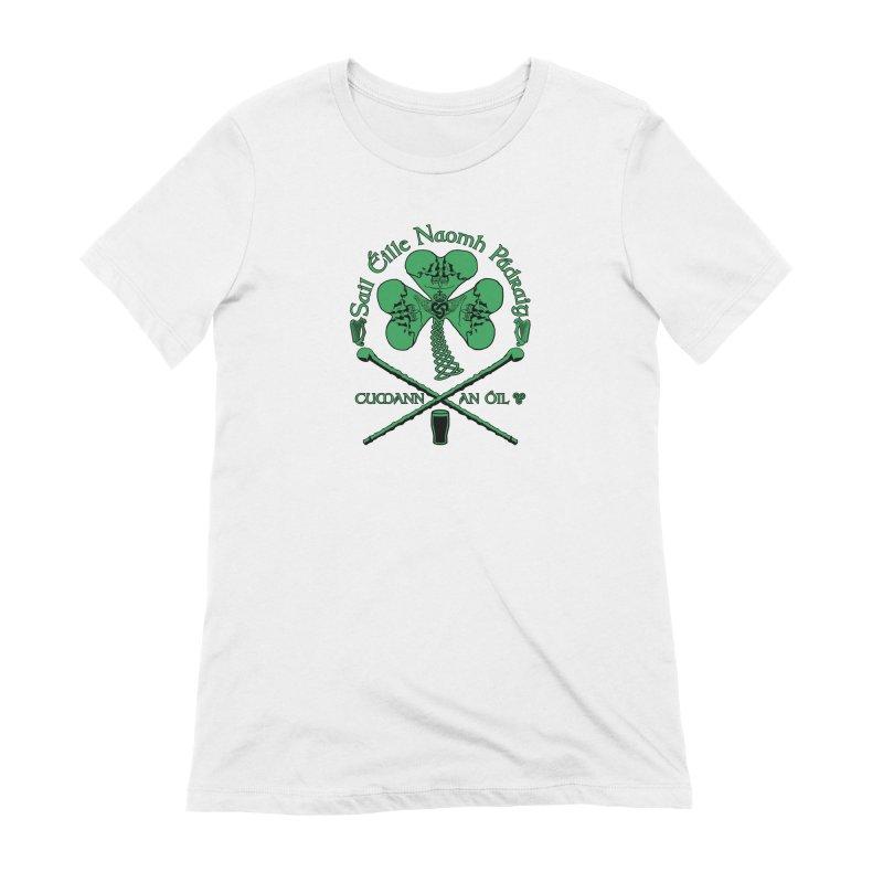 Saint Patrick's Shillelagh Drinking Society Women's Extra Soft T-Shirt by Peregrinus Creative