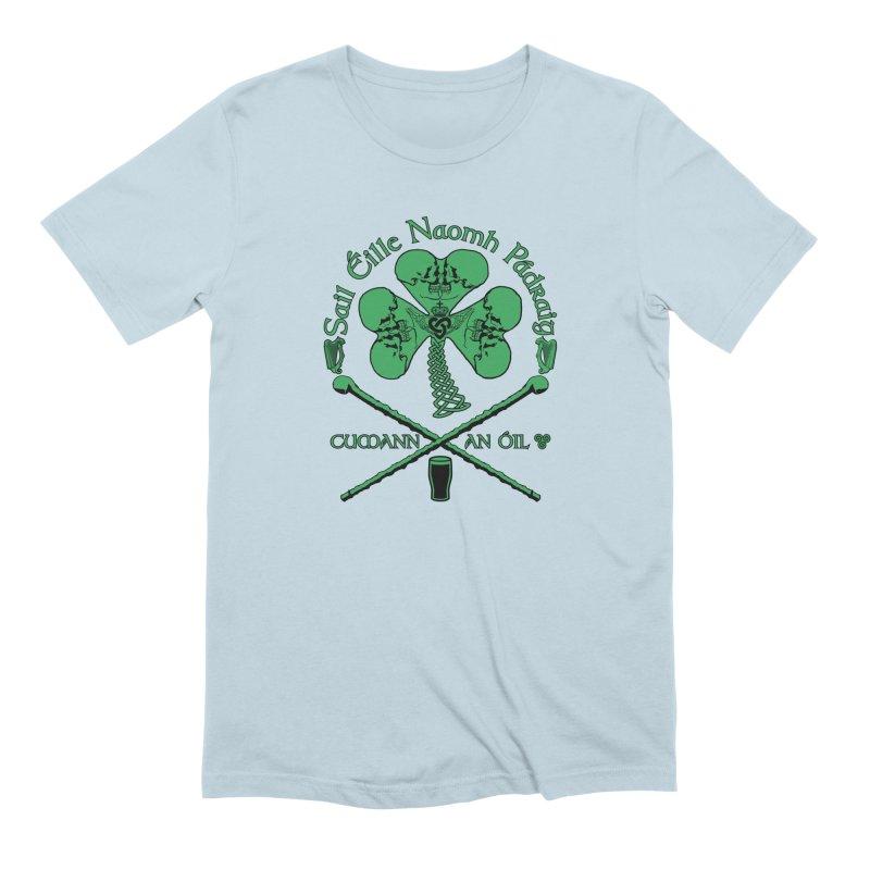 Saint Patrick's Shillelagh Drinking Society Men's Extra Soft T-Shirt by Peregrinus Creative