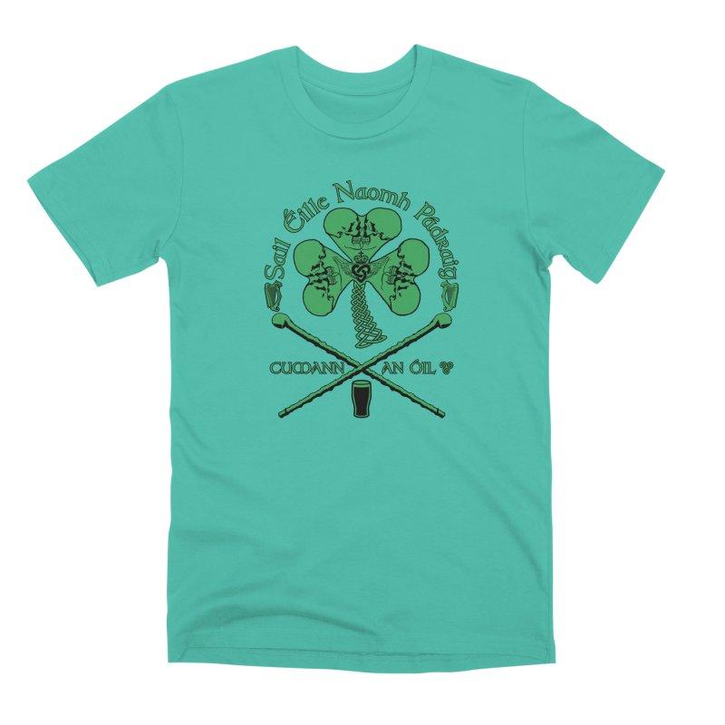 Saint Patrick's Shillelagh Drinking Society Men's Premium T-Shirt by Peregrinus Creative