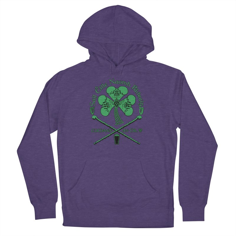 Saint Patrick's Shillelagh Drinking Society Women's French Terry Pullover Hoody by Peregrinus Creative