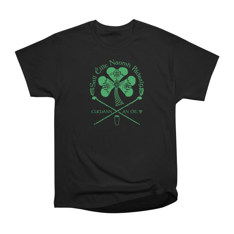 Saint Patrick's Shillelagh Drinking Society in Men's Heavyweight T-Shirt Black by Peregrinus Creative
