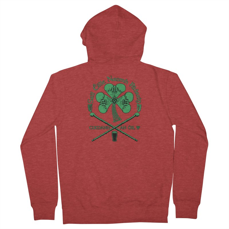 Saint Patrick's Shillelagh Drinking Society Women's French Terry Zip-Up Hoody by Peregrinus Creative