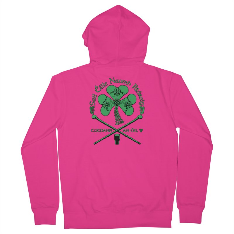 Saint Patrick's Shillelagh Drinking Society Men's French Terry Zip-Up Hoody by Peregrinus Creative