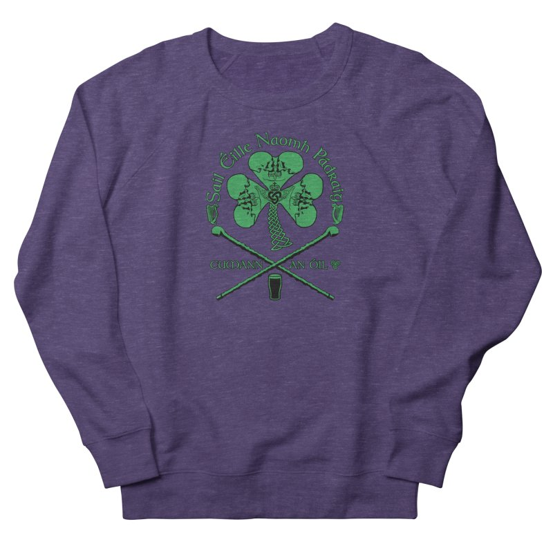 Saint Patrick's Shillelagh Drinking Society Men's French Terry Sweatshirt by Peregrinus Creative