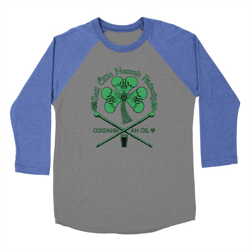 Saint Patrick's Shillelagh Drinking Society Men's Baseball Triblend Longsleeve T-Shirt by Peregrinus Creative